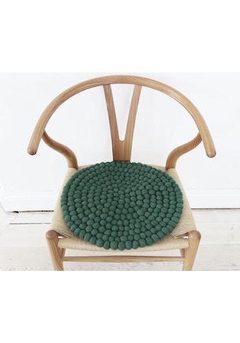 Wooldot Sitzkissen »Uni Color«, rund, Filzkugel-Teppich, reine Wolle, auch als Set bestellbar kaufen