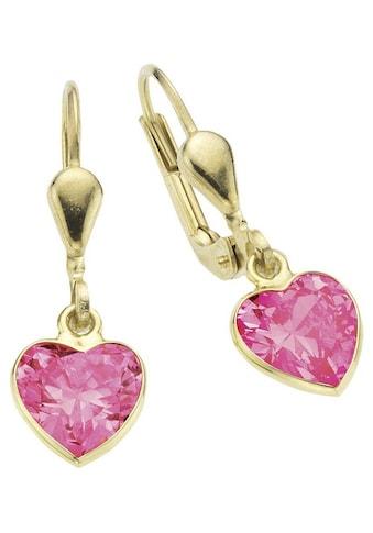 Firetti Paar Ohrhänger »Herz, glänzend« kaufen