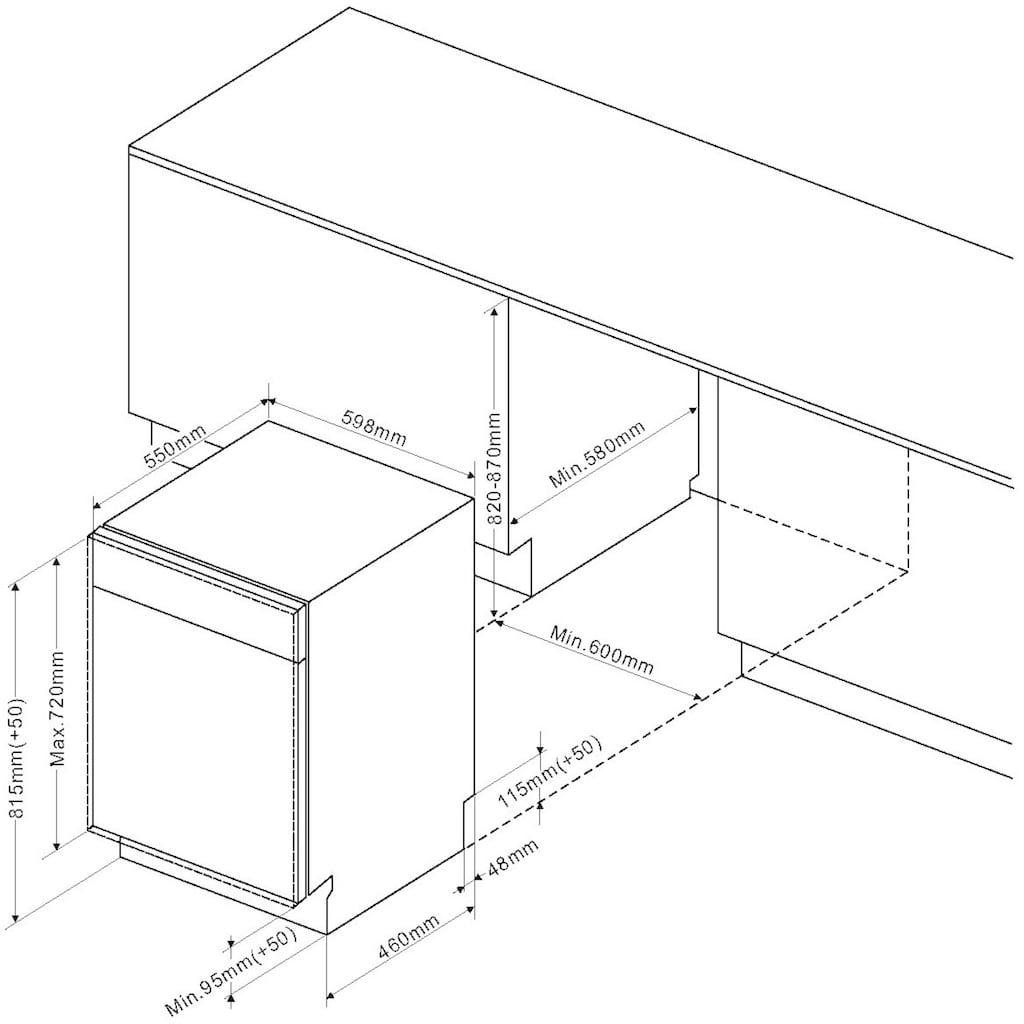 Amica vollintegrierbarer Geschirrspüler »EGSPV 594 910-1«, EGSPV 594 910-1, 14 Maßgedecke