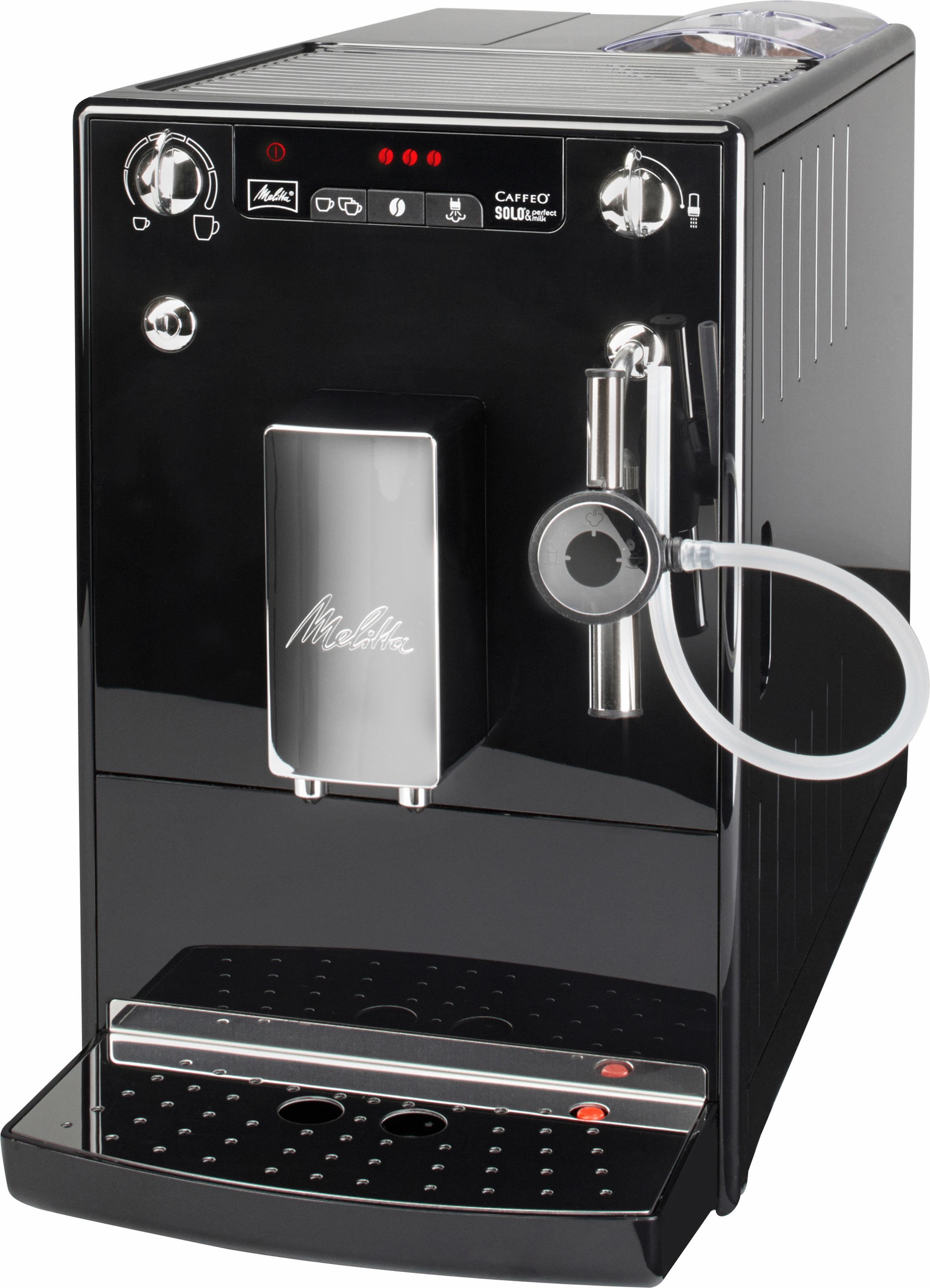 Melitta Kaffeevollautomat CAFFEO® Solo® & Perfect Milk E 957-101, 1, 2l Tank, Kegelmahlwerk | Küche und Esszimmer > Kaffee und Tee > Kaffeevollautomaten | Melitta