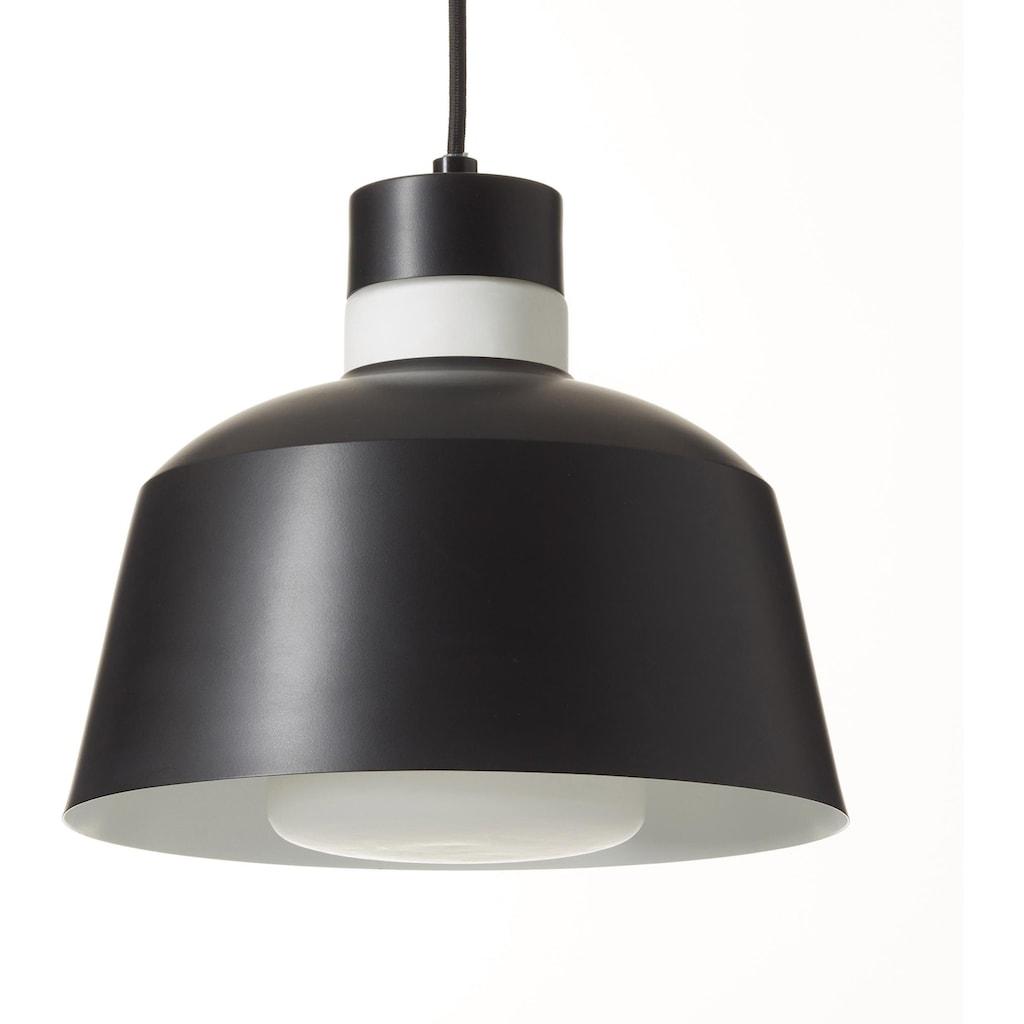 andas Pendelleuchte »COLOURS«, E14, Hängelampe Ø 25 cm mit weißem Opalglasring am Schirm, Textilpendel