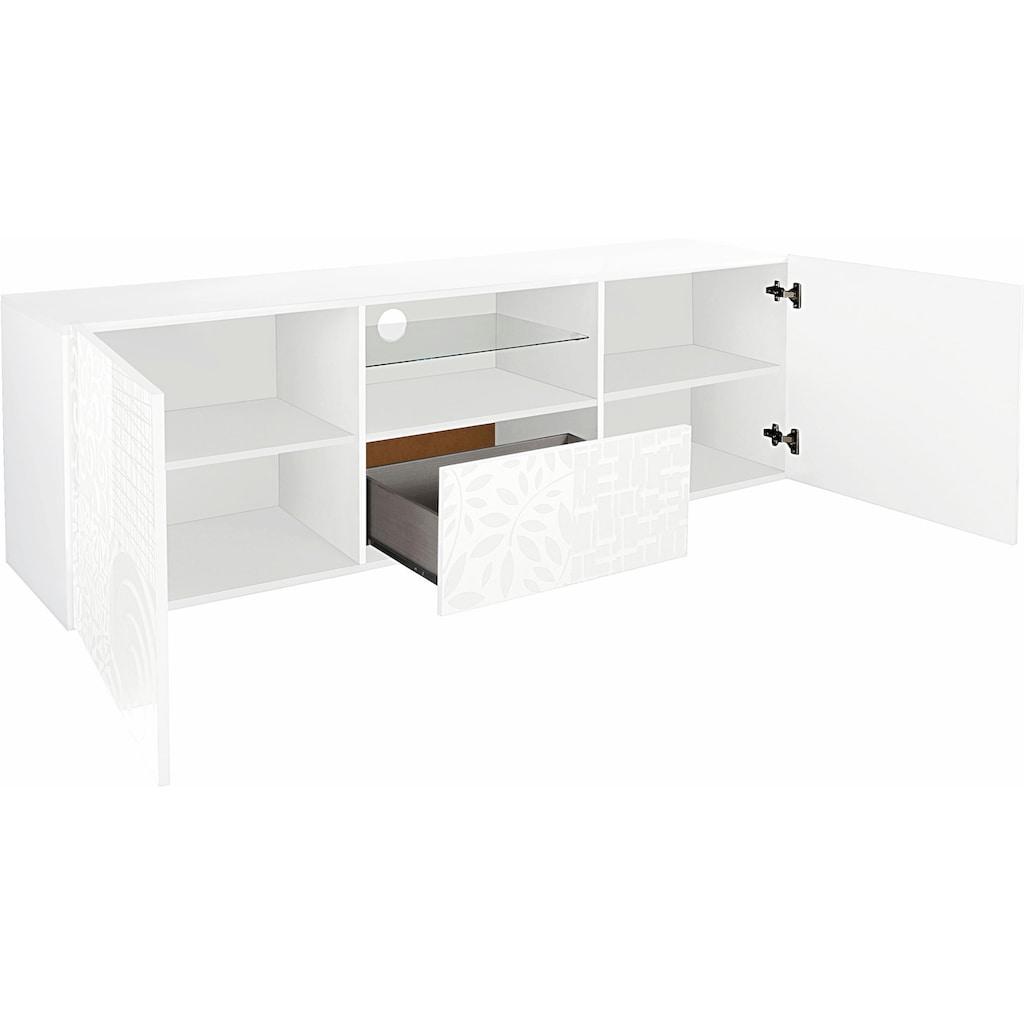 LC Lowboard »Miro«, Breite 181 cm mit dekorativem Siebdruck