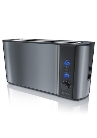 Arendo Automatik 2 Scheiben Langschlitz Toaster in Cool Grey »Frukost Grey« kaufen