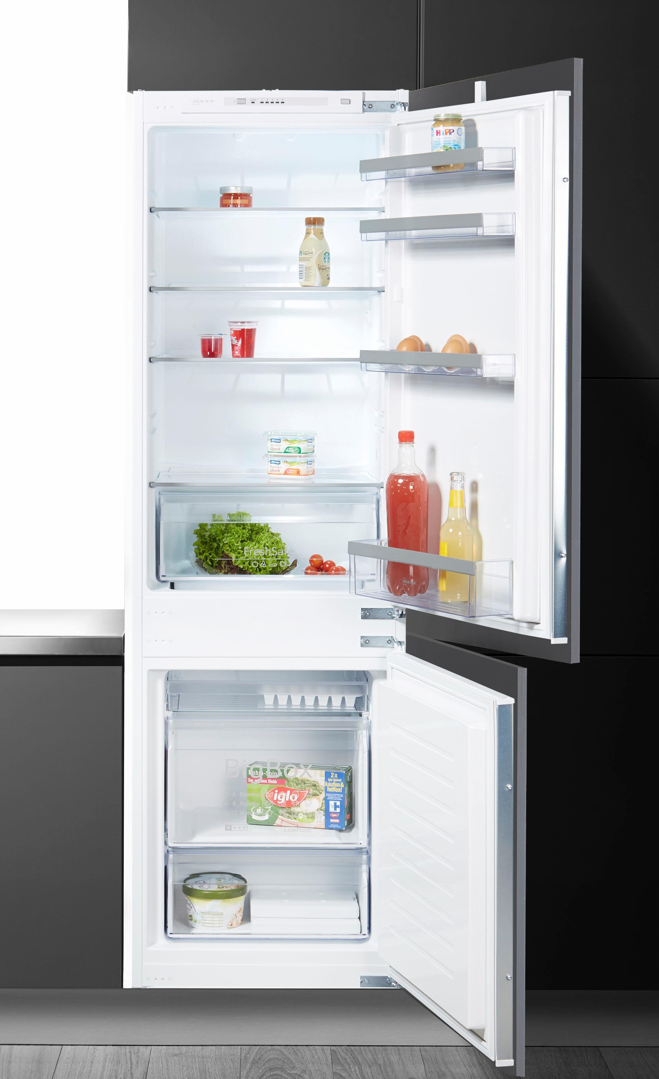 NEFF Einbaukühlgefrierkombination KG714A2, 177,2 cm hoch, 54,5 cm breit | Küche und Esszimmer > Küchenelektrogeräte > Kühl-Gefrierkombis | NEFF