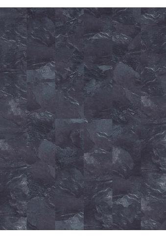 INFLOOR Teppichfliese »Velour Steinoptik Schiefer grau«, selbsthaftend 25 x 100 cm kaufen