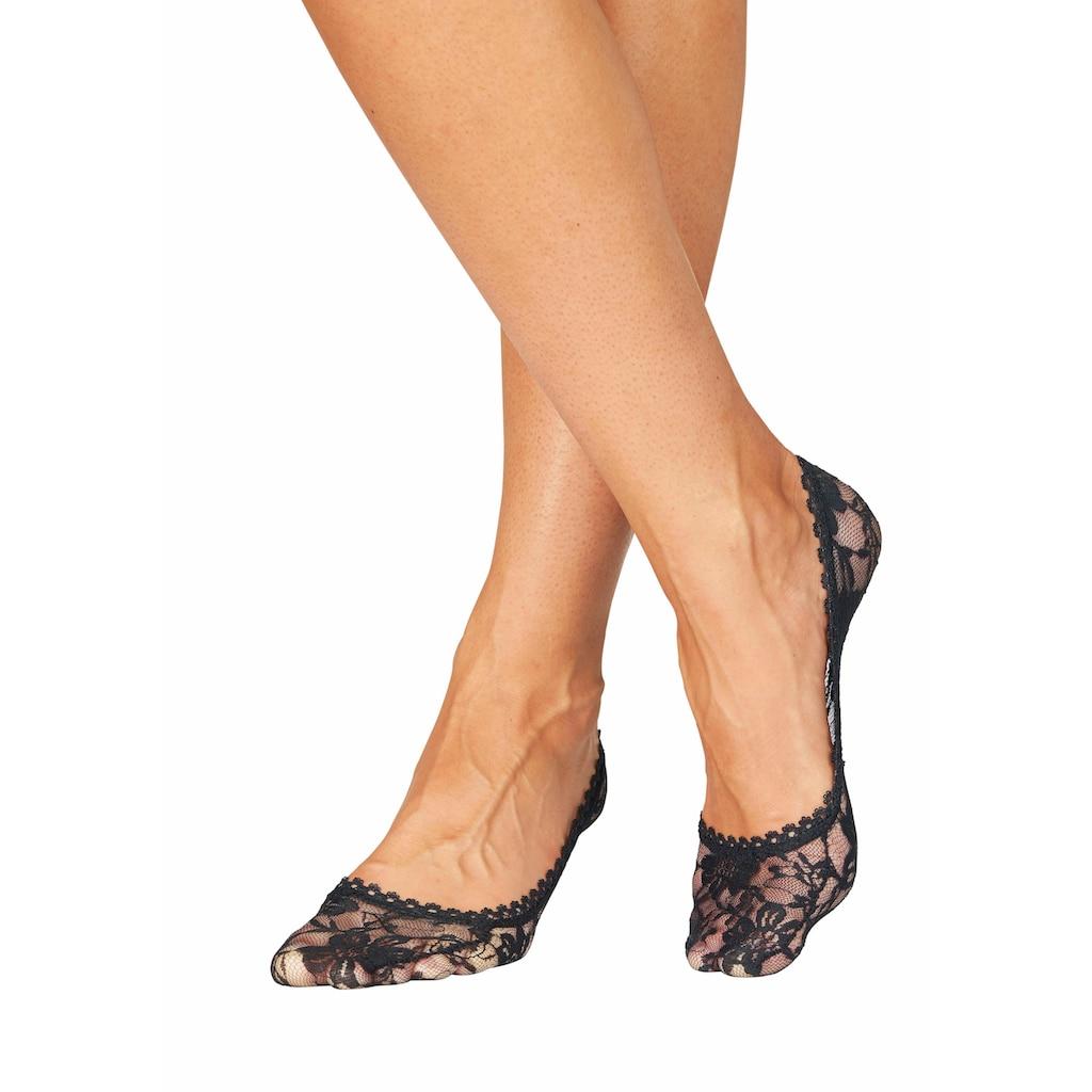 Apollo Füßlinge, (Packung, 3 Paar), aus Spitze