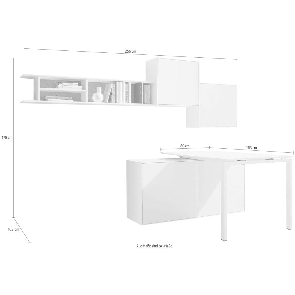 now! by hülsta Wohnwand »now! easy«, (Set, 5 St.), mit Tisch