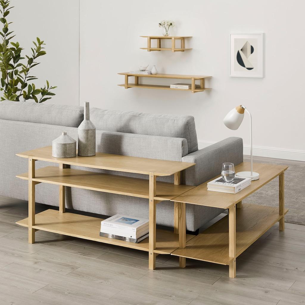 andas Standregal »Edna«, Design by Morten Georgsen, praktisches Eckregal mit viel Stauraum, 45 cm hoch