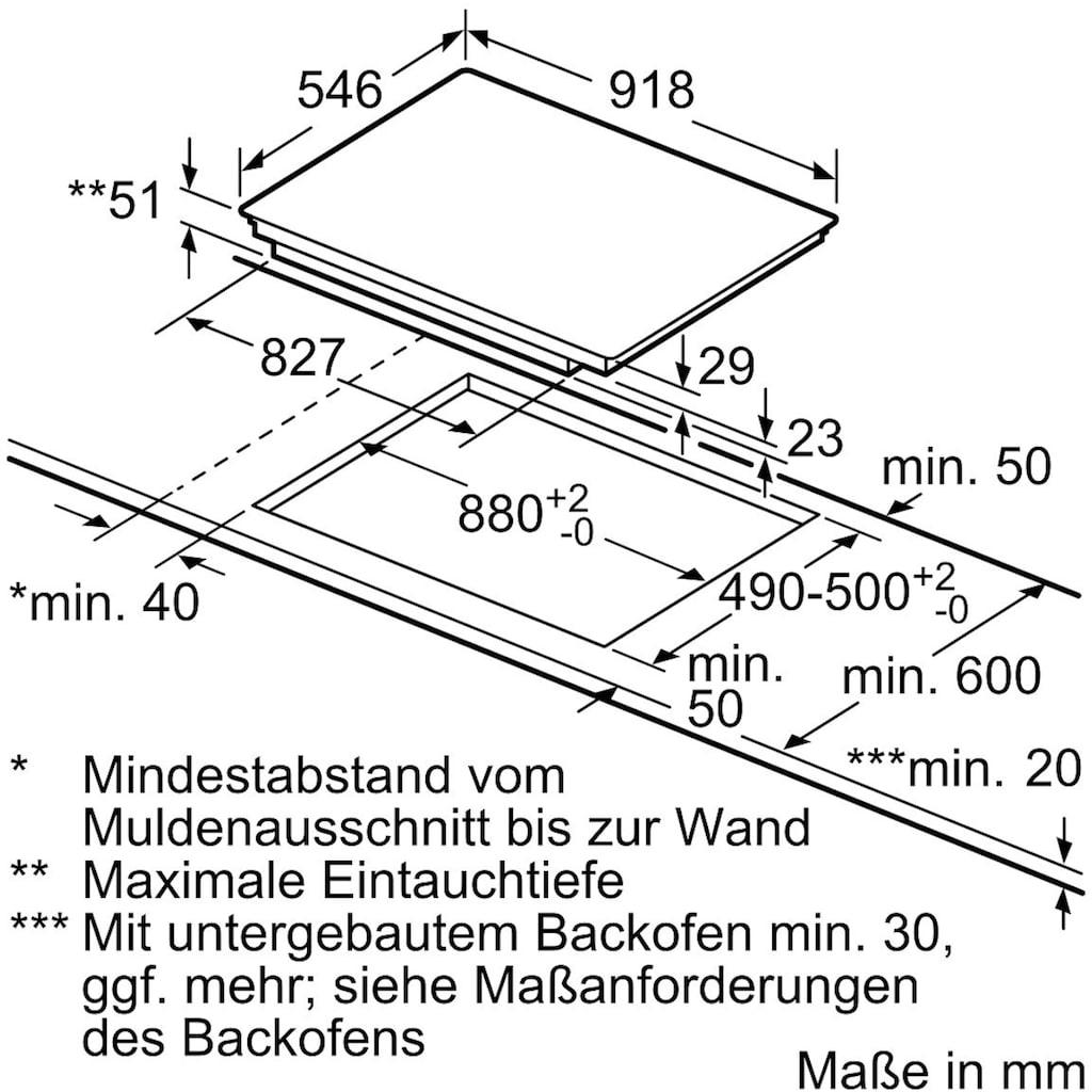 NEFF Flex-Induktions-Kochfeld von SCHOTT CERAN® »T59TT60N0«, T59TT60N0, mit TwistPad® Bedienung