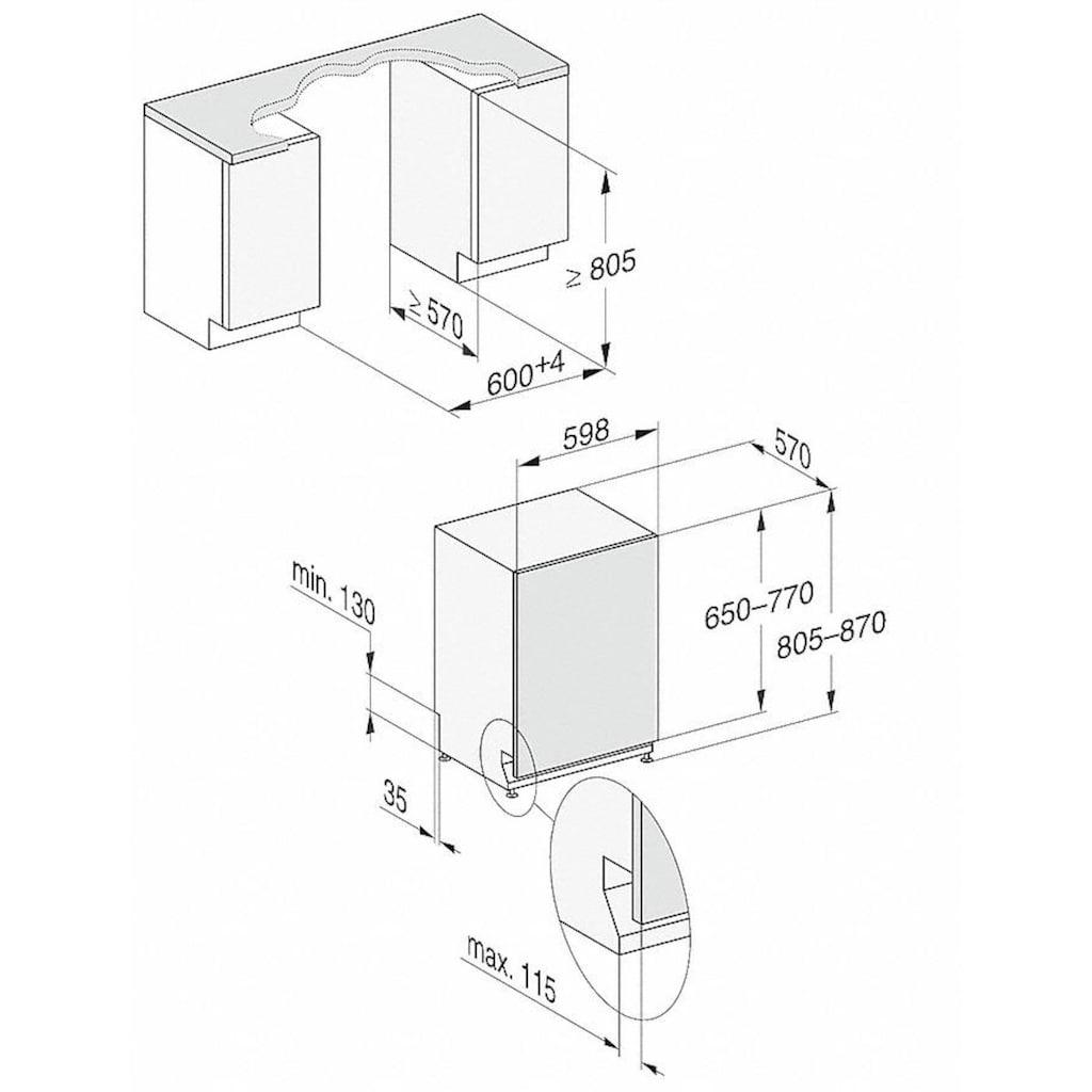 Miele vollintegrierbarer Geschirrspüler »G 7150 Vi«, G 7150 Vi, 8,9 l, 13 Maßgedecke