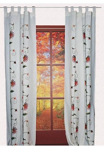 HOSSNER - ART OF HOME DECO Vorhang »Fuschlsee«, floraler Shabby-Chic kaufen
