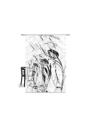 Schiebegardine, »Tulpen im Wind«, emotion textiles, Klettband 3 Stück kaufen