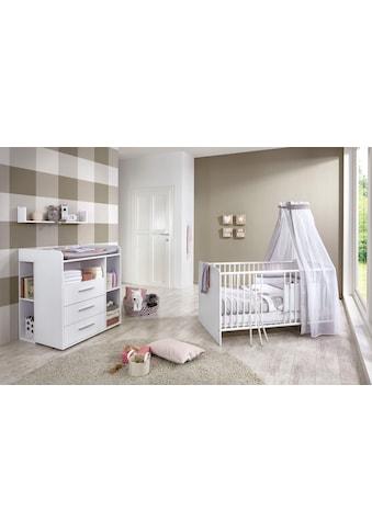 BMG Babymöbel-Set »Luis«, (Set, 5 tlg.), Bett + Wickelkommode + Unterstellregal (Set 2-tlg.) + Wandboard kaufen
