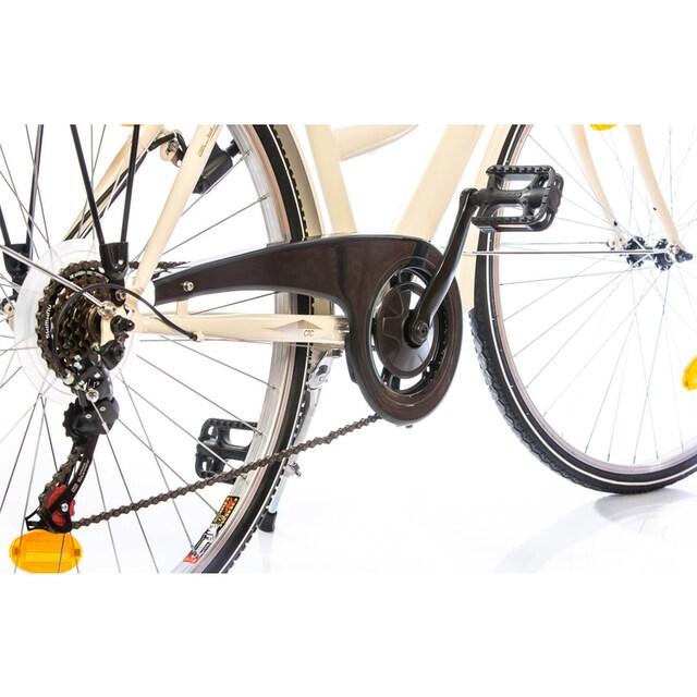 Leader Cityrad »Elysee Comfort«, 6 Gang Shimano Tourney Schaltwerk, Kettenschaltung (5-tlg.)