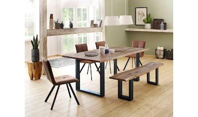 Home affaire Sitzbank »Micala«, aus massivem Wildeichenholz, in zwei verschiedenen Größen kaufen