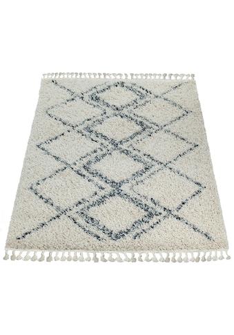 Hochflor - Teppich, »Nador 751«, Paco Home, rechteckig, Höhe 55 mm, maschinell gewebt kaufen