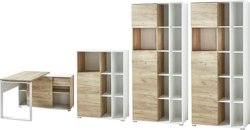 GERMANIA Büro-Set »GW-Lioni« (Set, 4-tlg) | Büro > Büromöbel-Serien | Weiß | GERMANIA