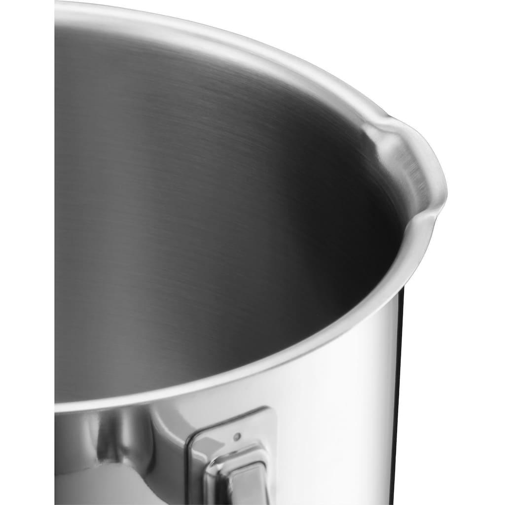 WMF Topf-Set »Function 4«, Cromargan® Edelstahl Rostfrei 18/10, (Set, 9 tlg.), Deckel mit 4 Funktionen zum wasserarmen Garen und kontrollierten Ausgießen, Induktion