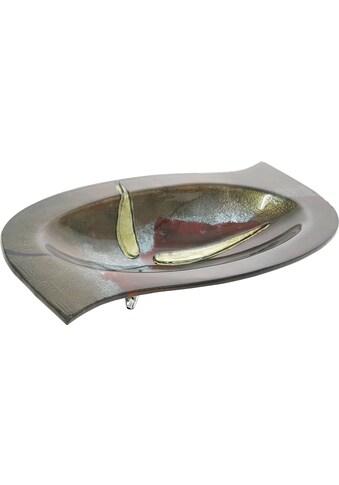 GILDE GLAS art Dekoschale »Canetto«, handbemalt mit Fusingglas-Elementen kaufen