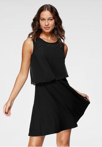 Laura Scott Partykleid, mit Chiffon-Top und Ziersteinen kaufen