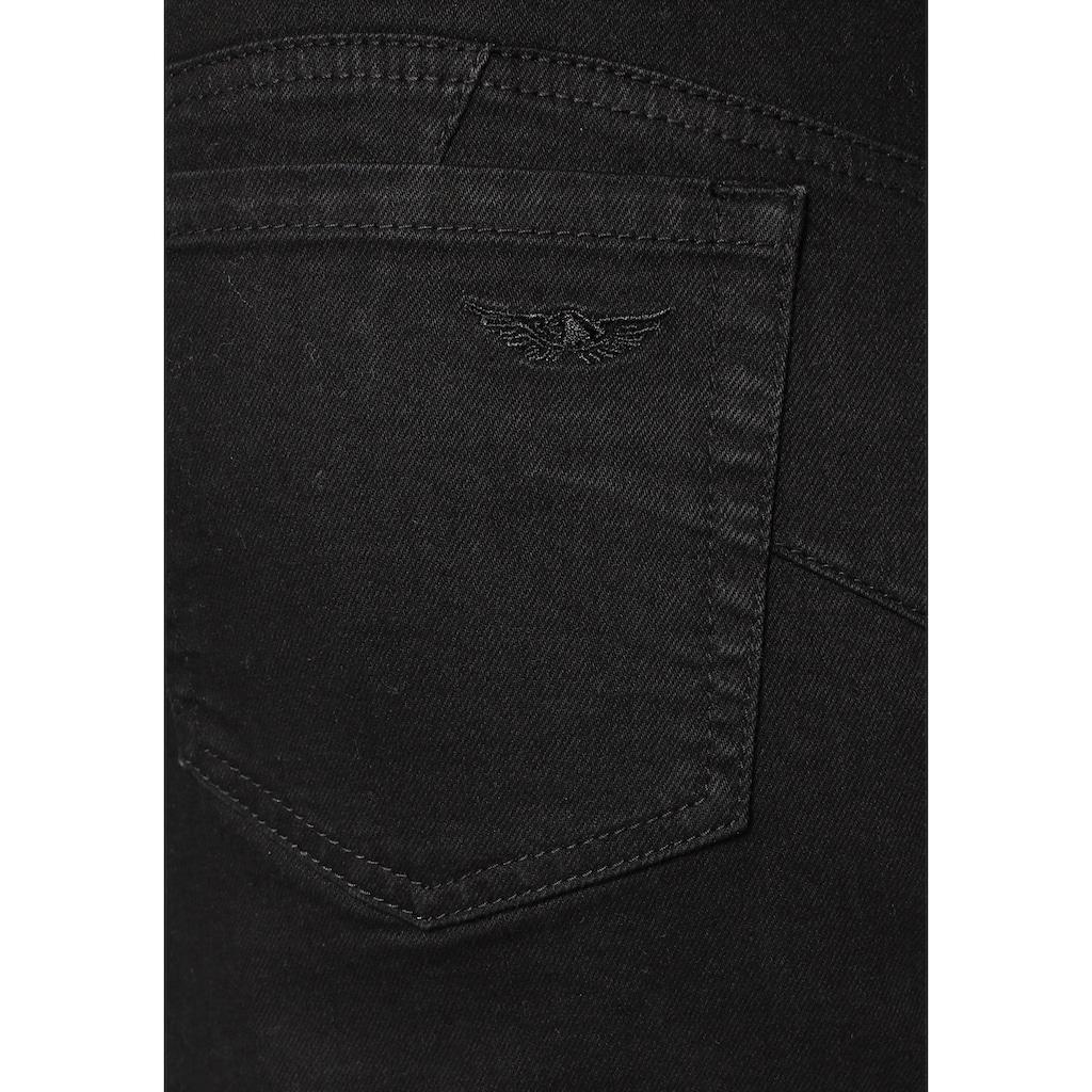Arizona Jeansrock »mit extra breitem Bund«, High Waist