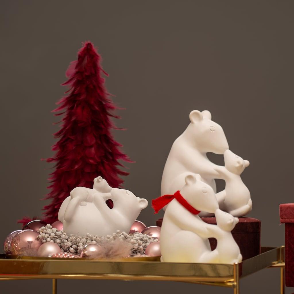VALENTINO Wohnideen Tierfigur »Eisbär mit Kind und Schal«, sitzend