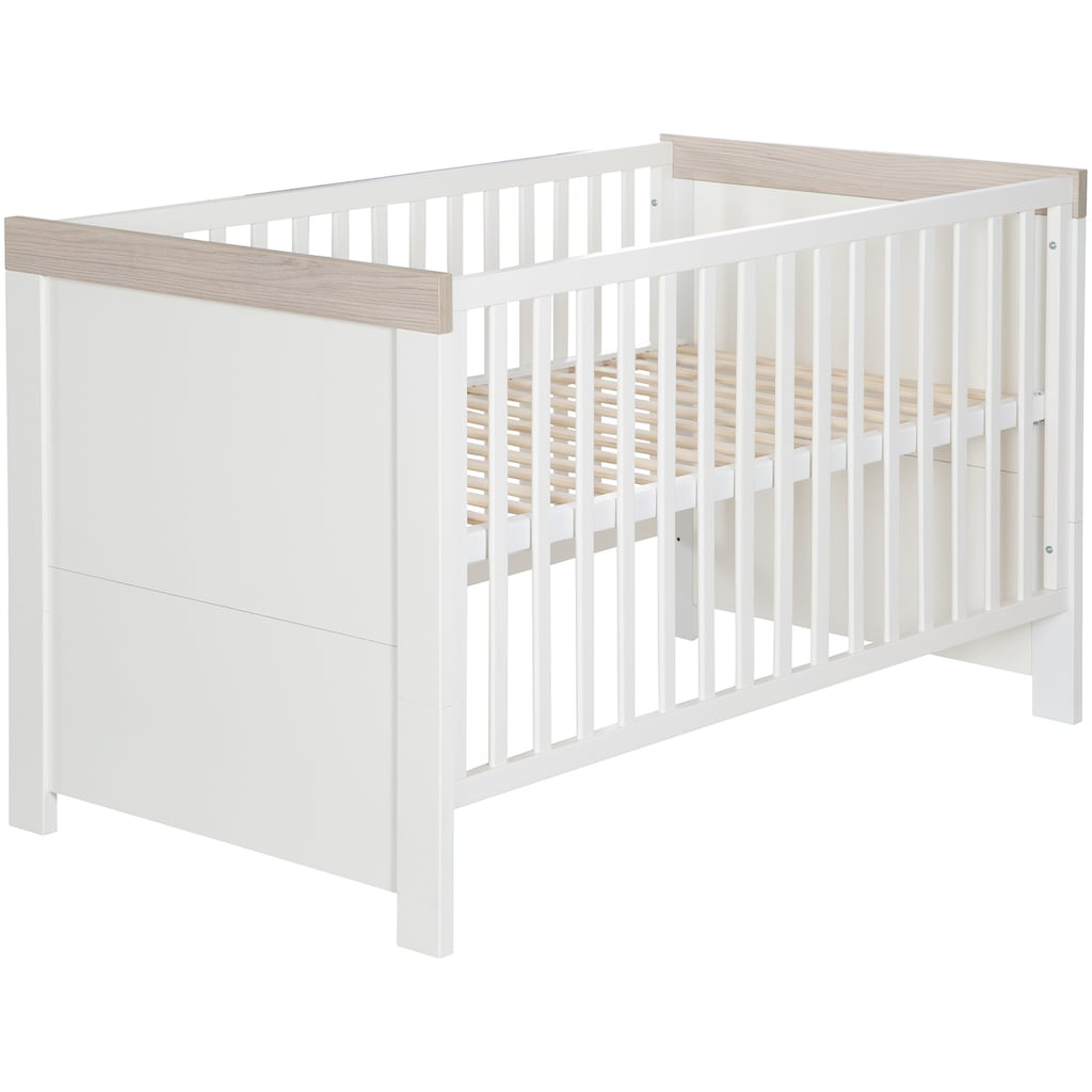 roba® Babyzimmer-Komplettset »Lucy«, (Set, 3 St.), Made in Europe; mit Kinderbett, Schrank und Wickelkommode