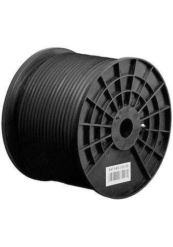 Goobay 100 dB Outdoor Koax - Antennenkabel »2x geschirmt, CCS, 100 m, Schwarz« kaufen