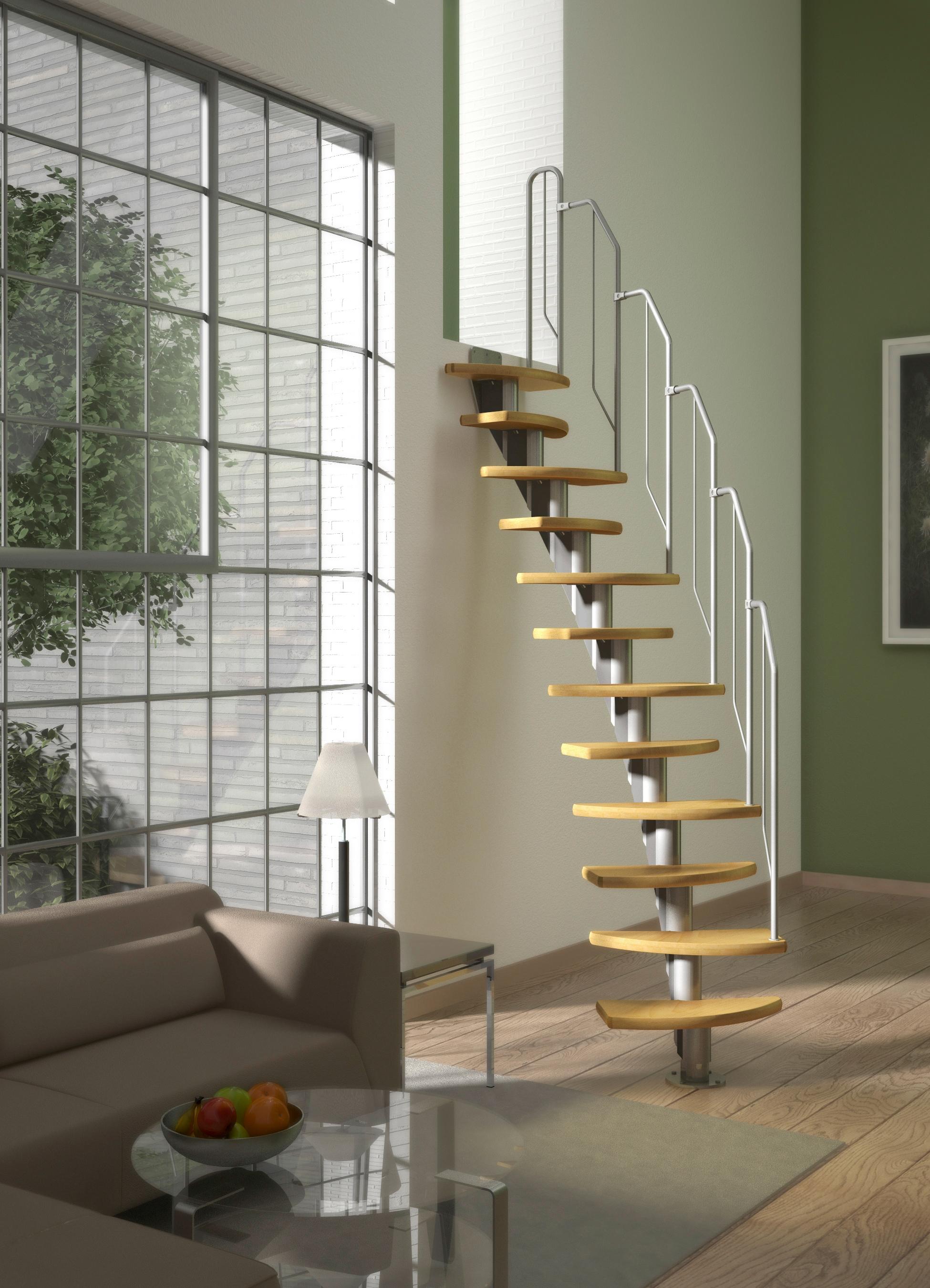 DOLLE Systemtreppe »Berlin«, Metallgeländer und -handlauf, Birke, BxH: 64x247 cm   Baumarkt > Leitern und Treppen > Treppen   DOLLE
