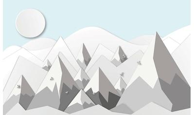 CONSALNET Papiertapete »Berge mit Schnee«, in verschiedenen Größen kaufen