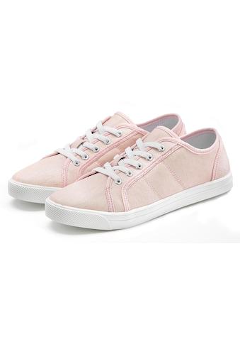LASCANA Sneaker, mit Glitzer-Optik und Elastikschnürbänder kaufen