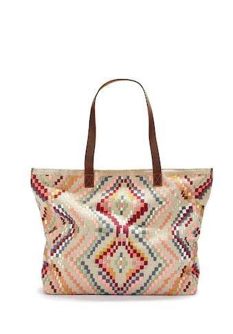 LASCANA Umhängetasche, Strandtasche mit Bestickung kaufen