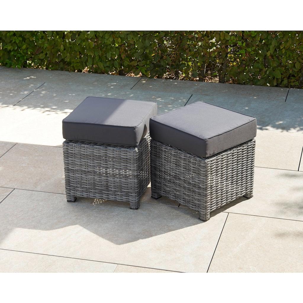Greemotion Loungeset »Miami Comfort«, (5 tlg.), Aluminium/Wicker