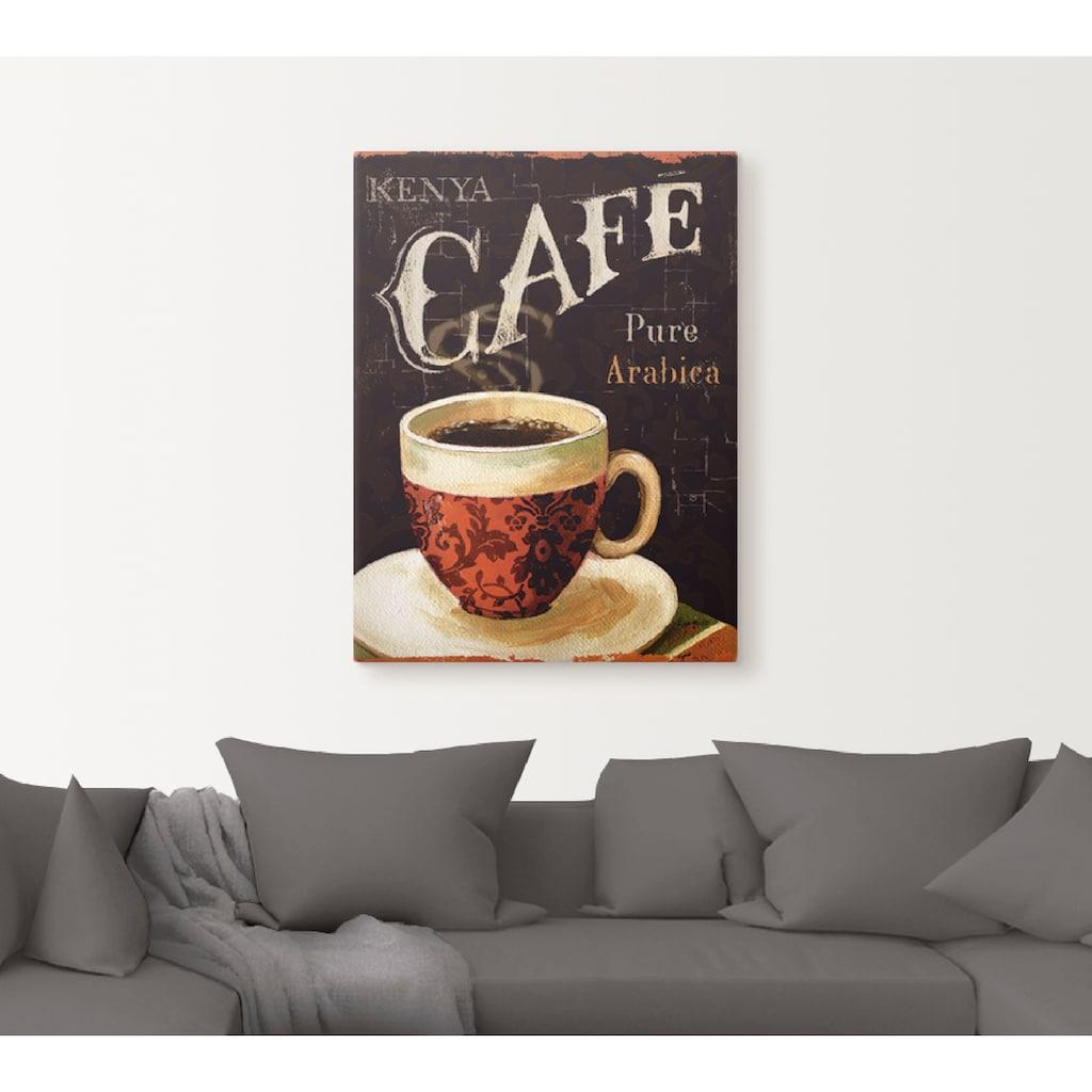 Artland Wandbild »Heutiger Kaffee I«, Getränke, (1 St.), in vielen Größen & Produktarten -Leinwandbild, Poster, Wandaufkleber / Wandtattoo auch für Badezimmer geeignet