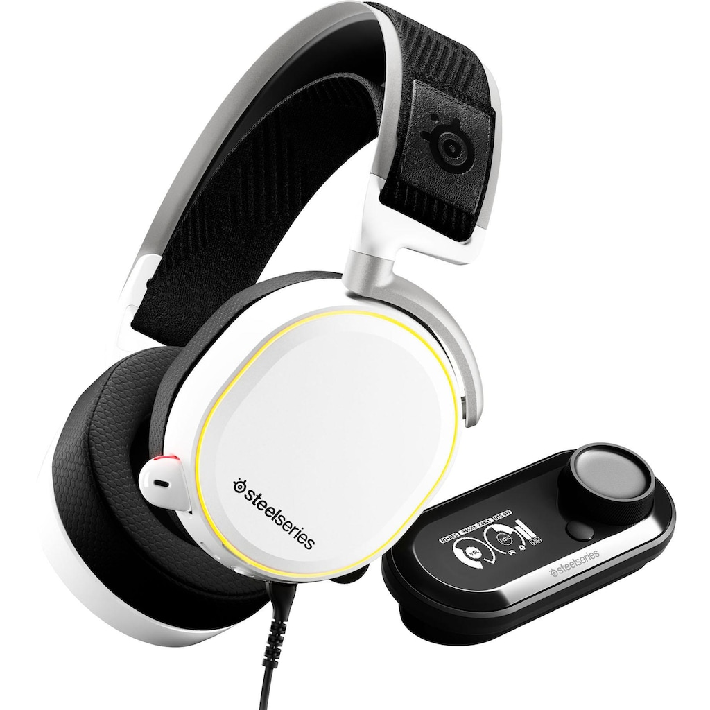 SteelSeries Gaming-Headset »Arctis Pro + GameDAC White«, Hi-Res-Noise-Cancelling