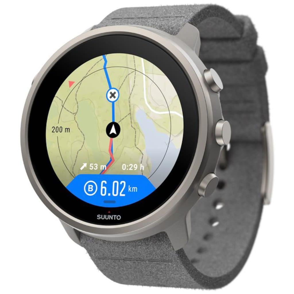Suunto Smartwatch »7 Titanium«, (Wear OS by Google gratis Suunto Flasche)