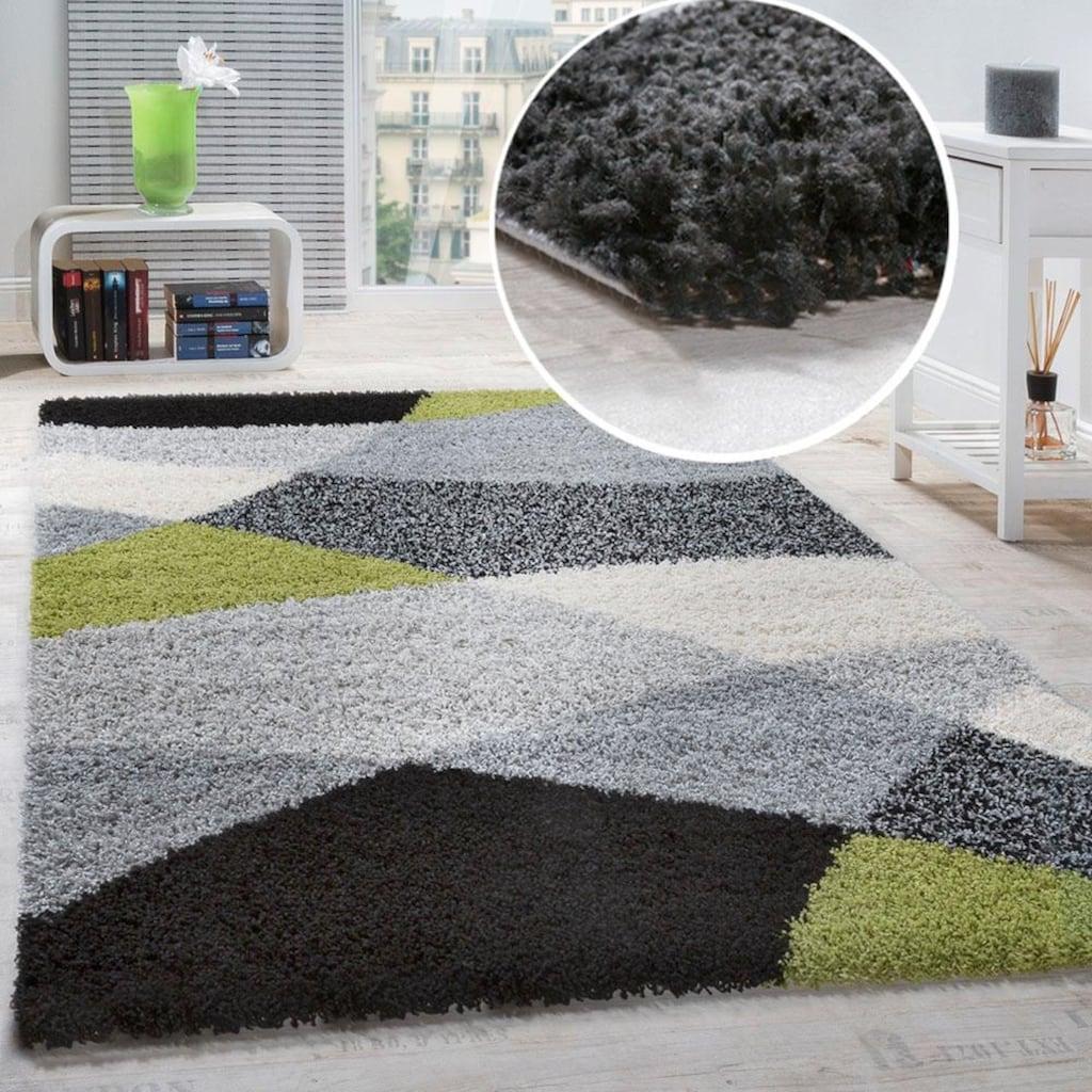 Hochflor-Teppich, »Mango 308«, Paco Home, rechteckig, Höhe 35 mm, maschinell gewebt