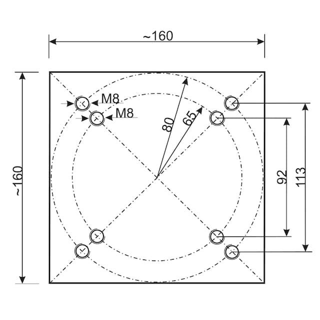 SCHNEIDER SCHIRME Ampelschirm »Rhodos Junior«