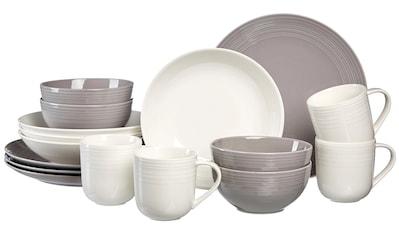 Ritzenhoff & Breker Kombiservice »Levi«, (Set, 16 tlg.), Grau-Weiß kaufen
