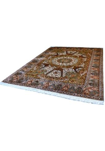 Kayoom Seidenteppich »Kashan 205«, rechteckig, 10 mm Höhe, Einzelstück mit Zertifikat,... kaufen