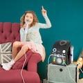Auna LED Lichteffekt Karaoke Mikrofon weiß