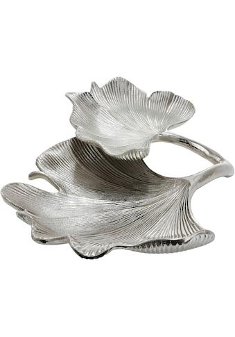 GILDE Dekoschale »Doppelschale Ginkgo Blatt«, aus Keramik, Wohnzimmer kaufen