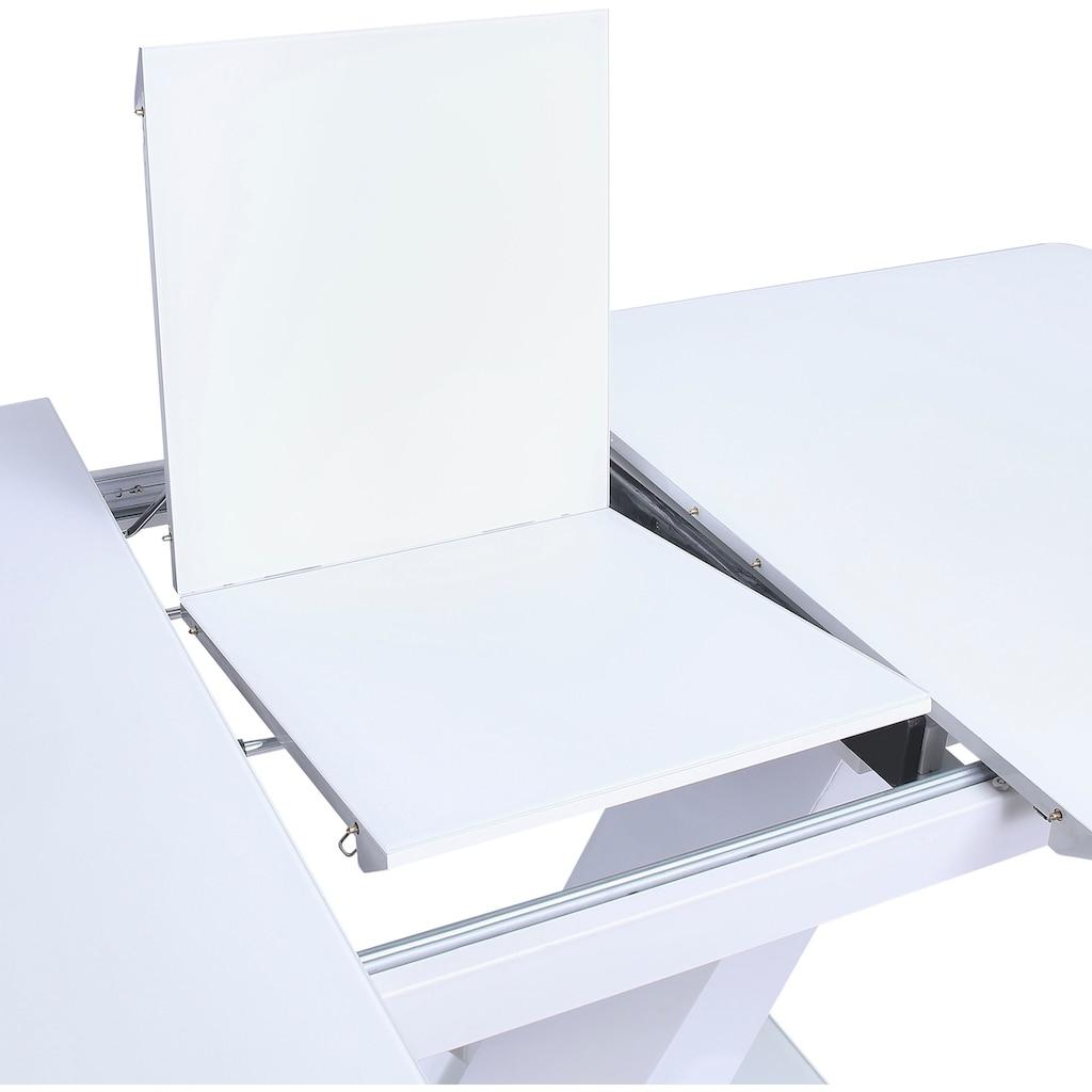 SalesFever Esstisch, Glastisch ausziehbar