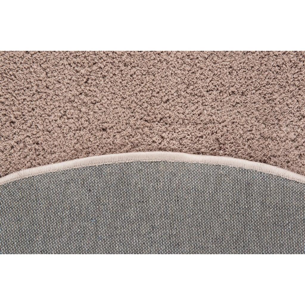 LUXOR living Hochflor-Teppich »San Donato«, rund, 27 mm Höhe, besonders weich durch Microfaser