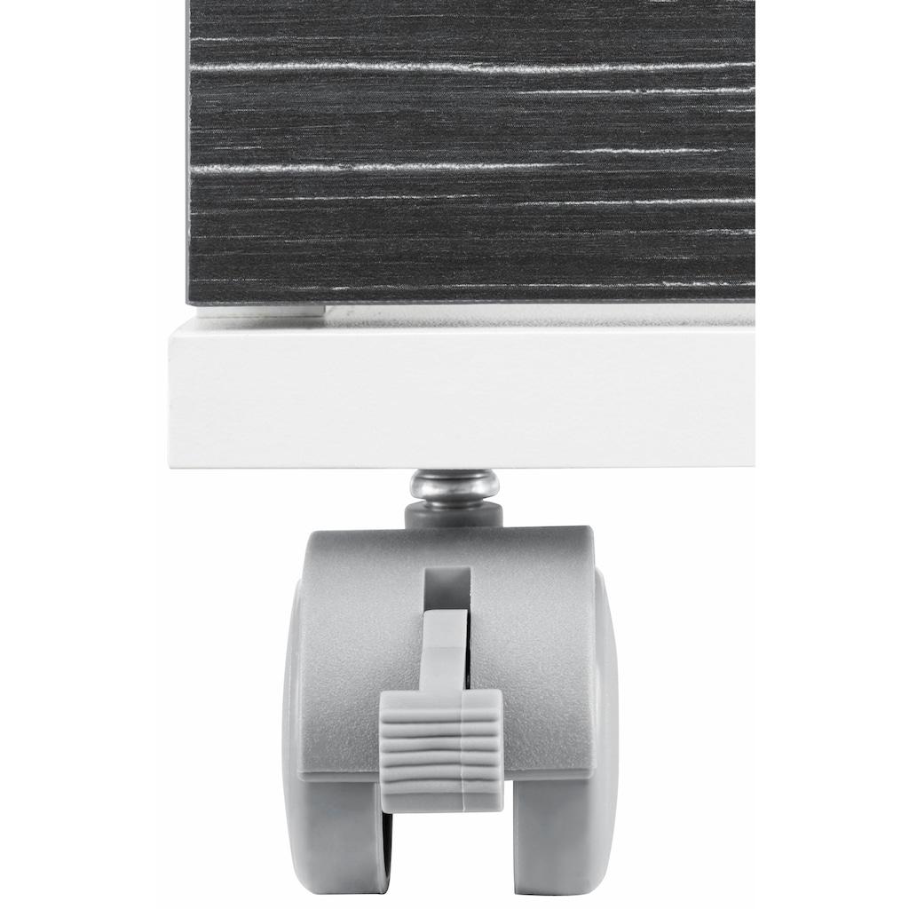 Schildmeyer Waschbeckenunterschrank »Emmi«, Höhe 60 cm, Metallgriffe, auf Rollen