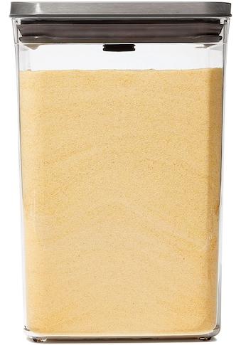 OXO SteeL Frischhaltedose »Steel POP«, (1 tlg.), quadratisch, 4,2 Liter kaufen