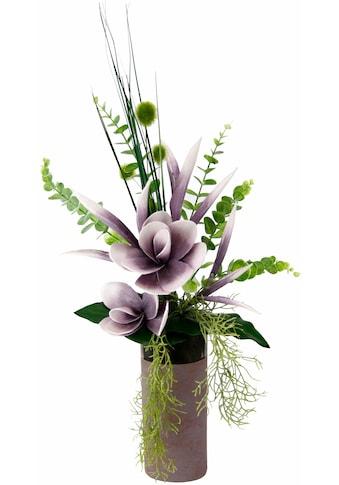 I.GE.A. Kunstpflanze »Arrangement Soft - Magnolie in Vase« (1 Stück) kaufen