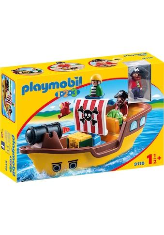 "Playmobil® Konstruktions - Spielset ""Piratenschiff (9118), Playmobil 1 - 2 - 3"", Kunststoff kaufen"
