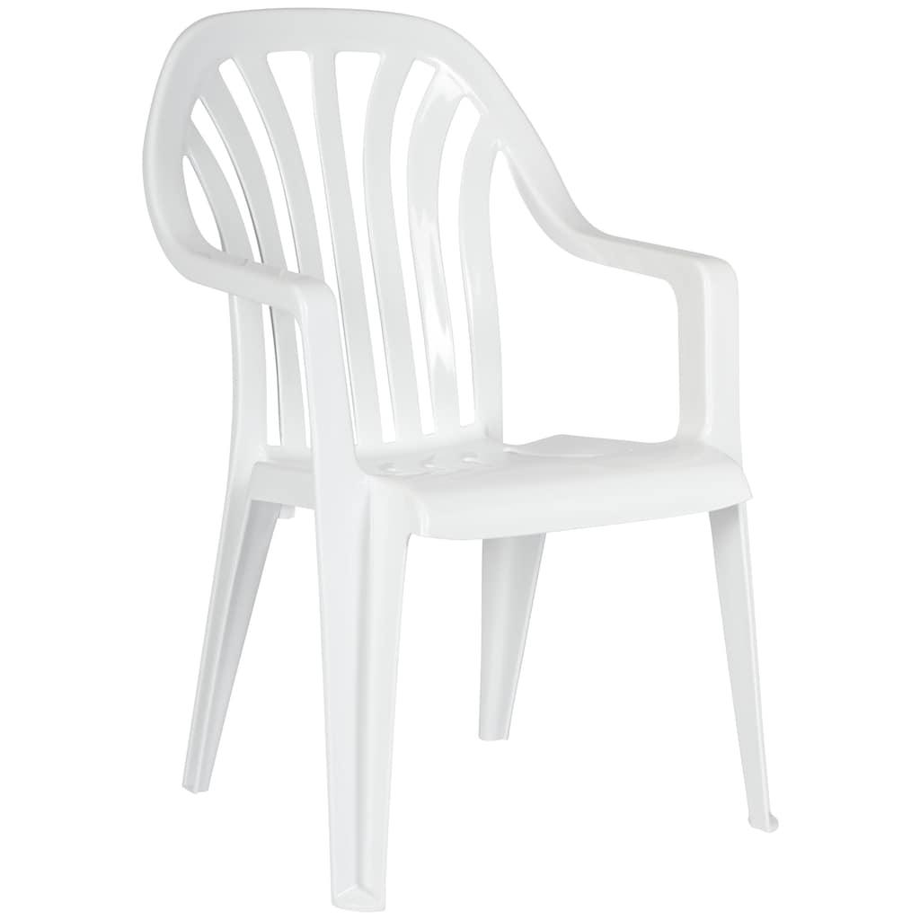 Best Gartenstuhl »Laredo«, 4er Set, Kunststoff, stapelbar, weiß