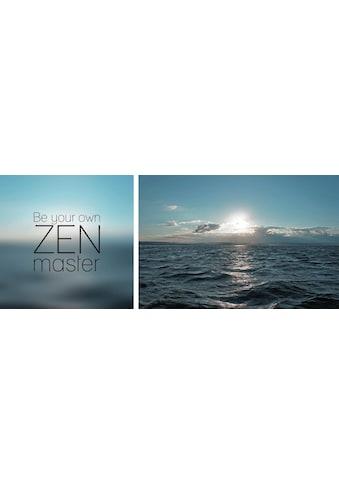 queence Leinwandbild »Zenmaster«, (Set), 2er-Set kaufen